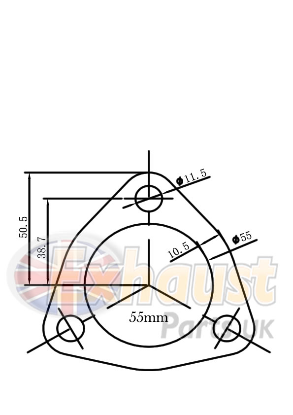 Exhaust Flanges : Exhaust Parts UK - Walsall 304 316