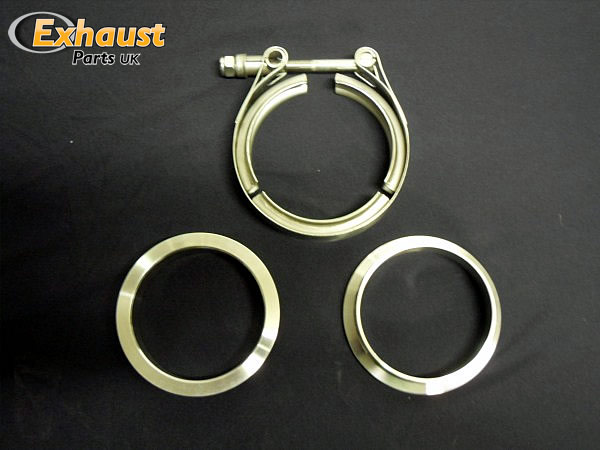 "2.5"" V Band Turbo / Pipe Flanges & Clamp Stainless Steel"
